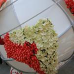 Mappamondo decorato con fiori